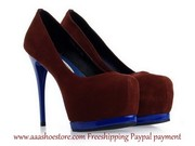 Hot sale Gianmarco Lorenzi Purple Suede Pump Blue Stiletto Heel and Ma