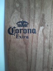 Wooden Corona surfboard