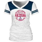 College World Series 8 Team Pink V Neck Womens Shirt