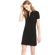 Lacoste Women's Stretch Cotton Short Sleeve Mini Piqué Polo Dress,  Bla