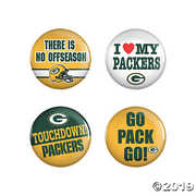 NFL Green Bay Packers 4 Pack Buttons