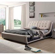 US Pride Furniture B8049-EK Victoria Leather Contemporary Platform Bed