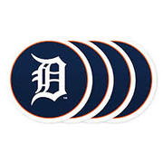 MLB Detroit Tigers Vinyl Coaster Set (Pack Of 4)