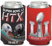 NFL Super Bowl 51 Falcons VS Patriots Dueling Helmets Can Cooler